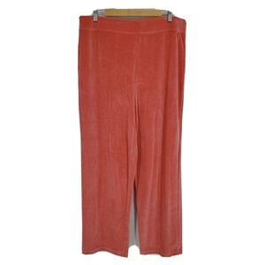 New Talbots Velour Pull On Pants Relaxed Straight